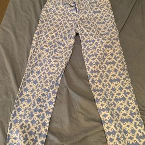Fun Blue and White Patterned Pants